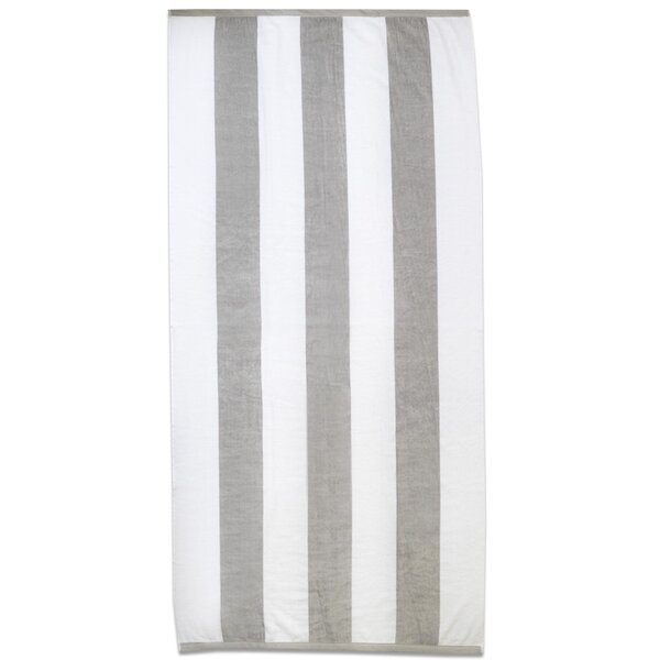 Ventana Terry Velour 100% Cotton Beach Towel by Rosecliff Heights